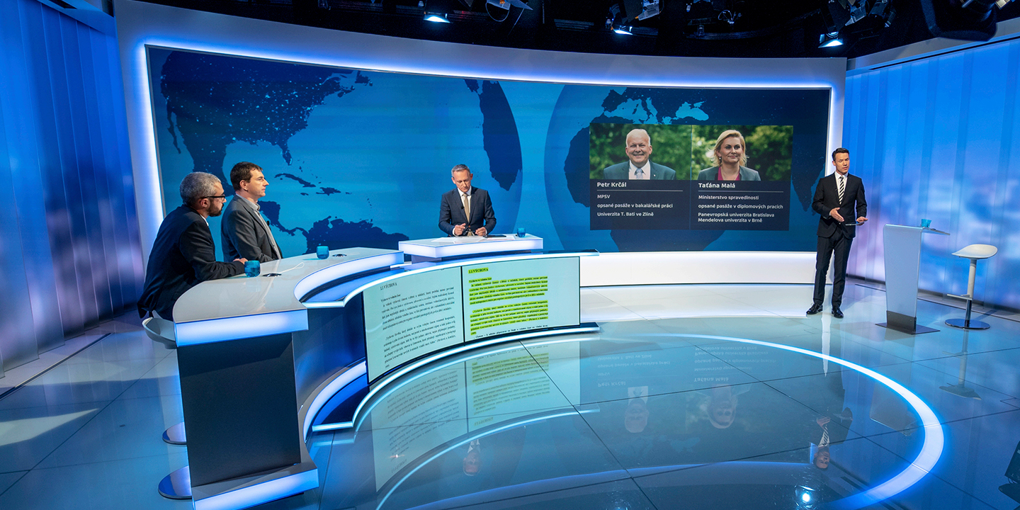 Czech Television, the only public broadcaster in the Czech Republic, was looking to add an elegant touch to its new television studio.