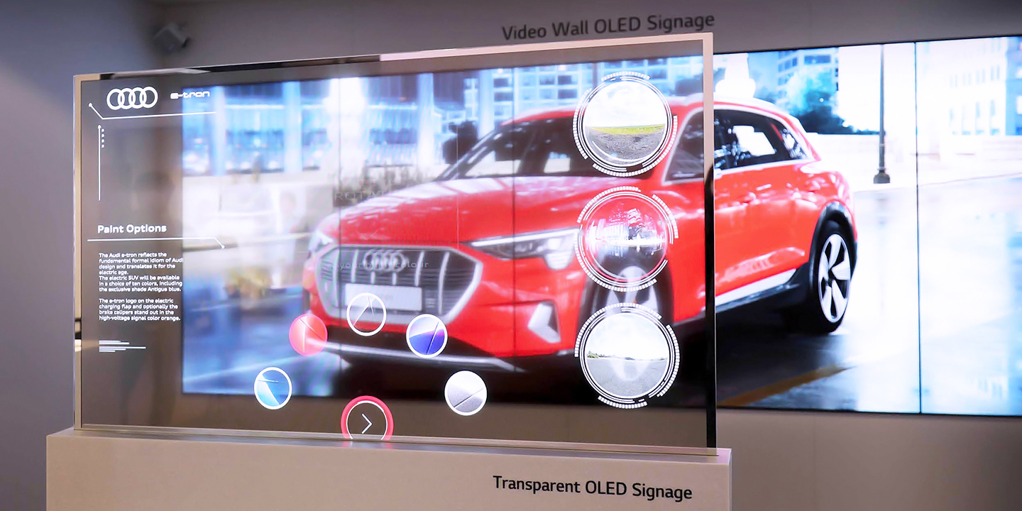 Transparent OLED Auto Showroom at ISE 2019