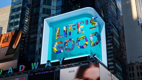 Dynamic 3D Campaign Lights Up New York's Times Square
