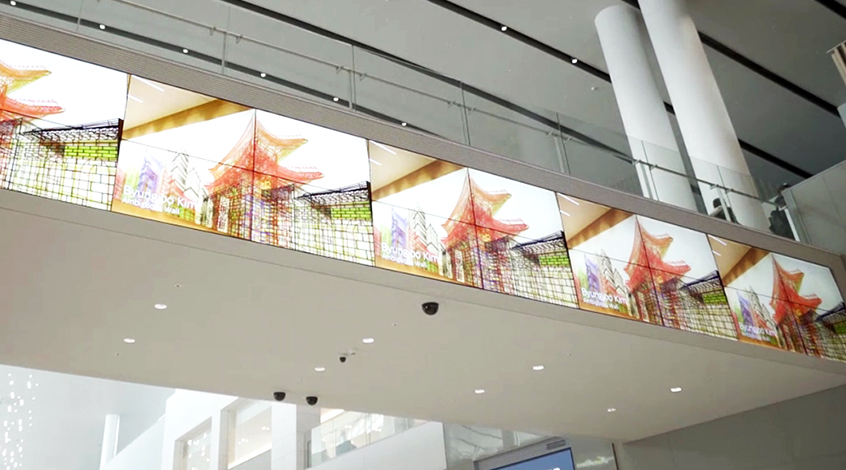 55-inch Video Walls used in Terminal 2's Duty Free shopping area