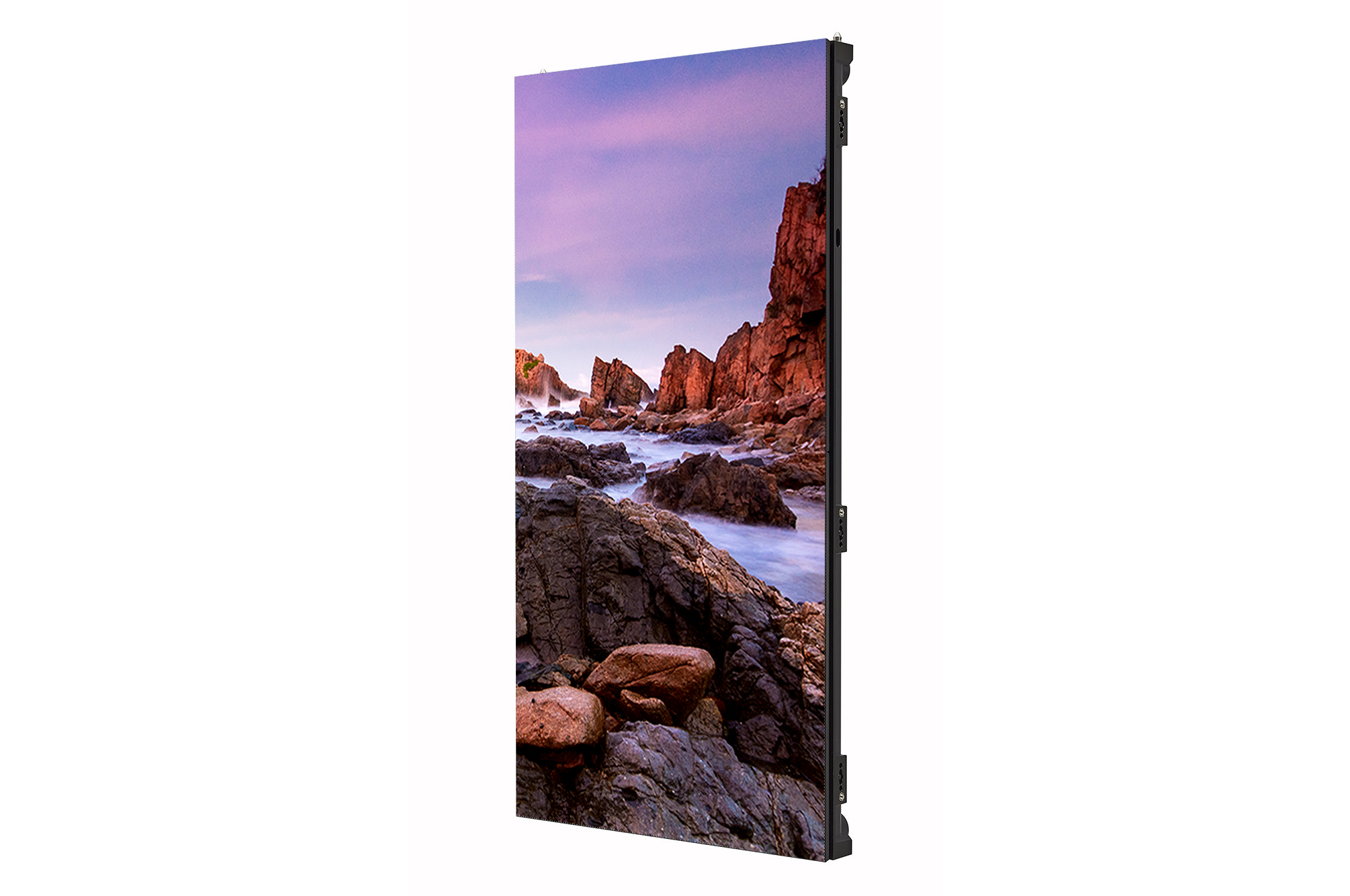 Digital Signage LSCA, left 45 degree side view with inscreen, 500x1000
