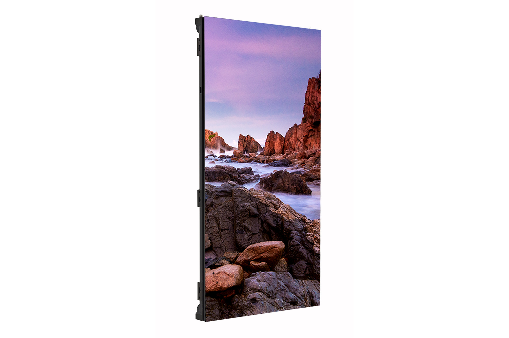 Digital Signage LSCA, right 45 degree side view with inscreen, 500x1000