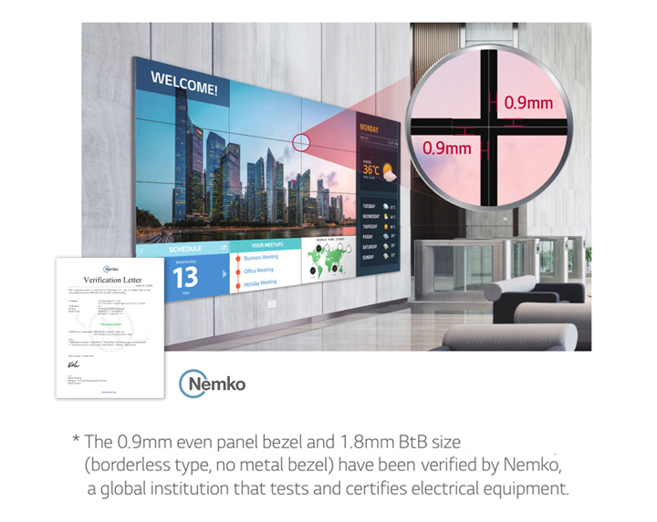 Seamless Large Screens with Extreme-Narrow Bezel