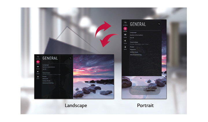 Dedicated GUI for Portrait Orientation