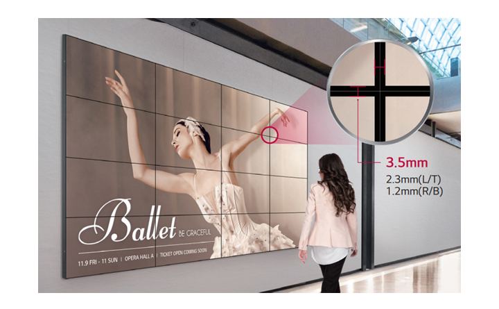 Seamless Large Screens with Ultra-Narrow Bezel