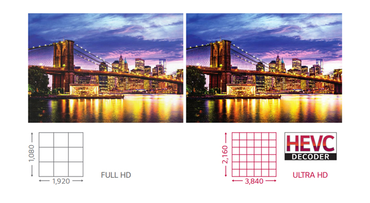Vivid Color Details with Ultra HD