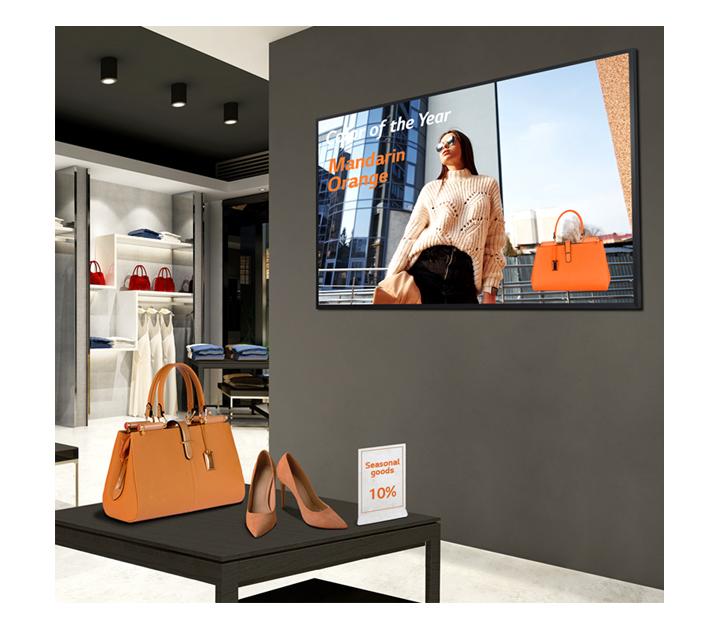 LG UHD Signage Captures Customer's Attention
