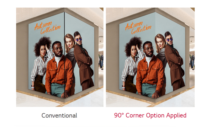 90° Corner Design Available