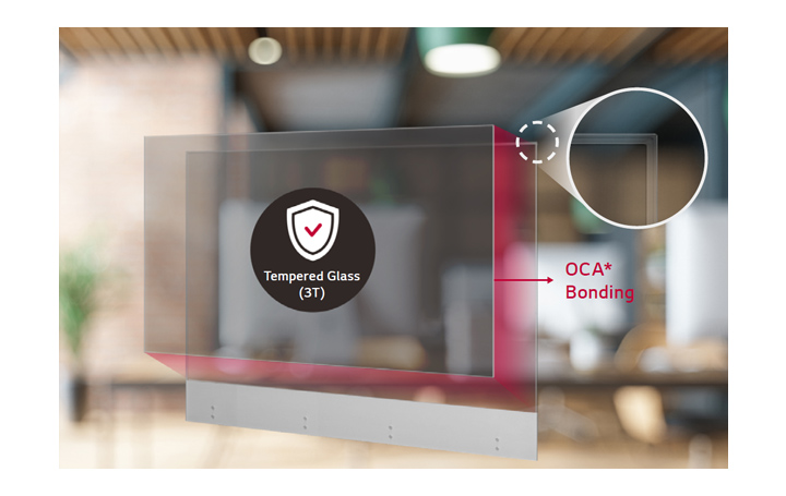 Attach thin and transparent tempered glass to the screen to maximize product protection and user safety.