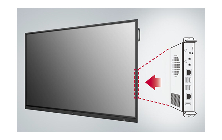 Built-in OPS Slot allows users to connect to an external desktop easily, which provides more expanded functions.