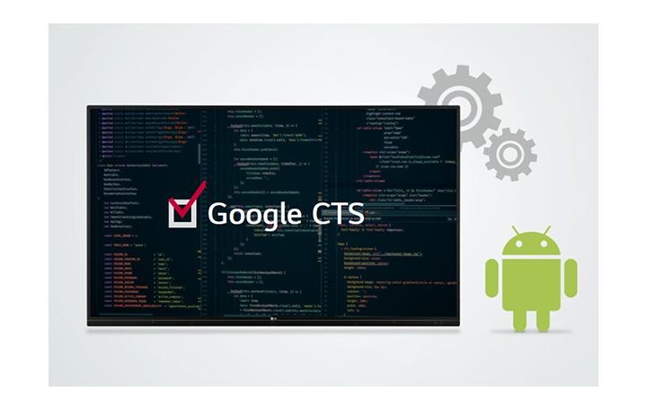 Pasó Google CTS, Compatibility Test Suite, y LG es la única empresa que proporciona una pantalla interactiva certificada por Google CTS.