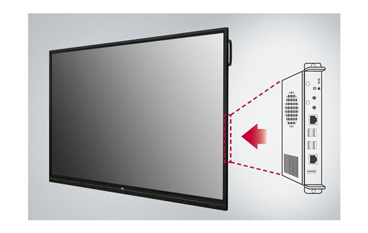La ranura OPS incorporada permite a los usuarios conectarse fácilmente a un escritorio externo, lo que proporciona funciones más ampliadas.