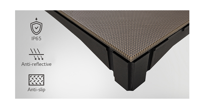 LFCG was developed with a matte anti-slip and anti-reflective surface with IP65 protection.
