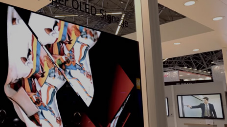 LG Booth #2 OLED Signage