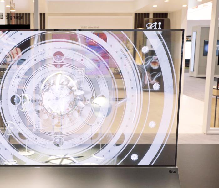 the transparent OLED signage